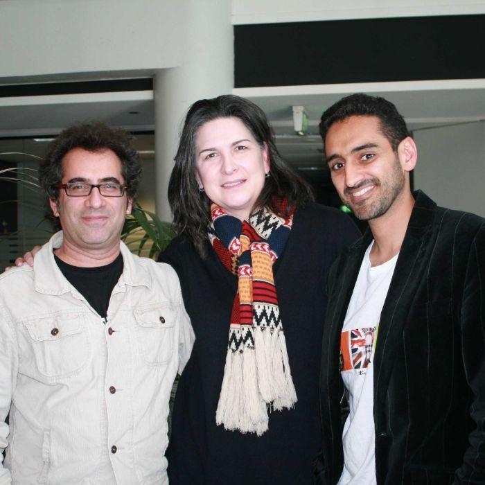 The Drawing Room — Image: Danny Katz, Pamela Rabe and Waleed Aly (Barbara Heggen, ABC)