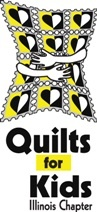 One hundred percent of donations received are used toward the creation and delivery of quilts to children suffering with life threatening illnesses mostly cancer victims.