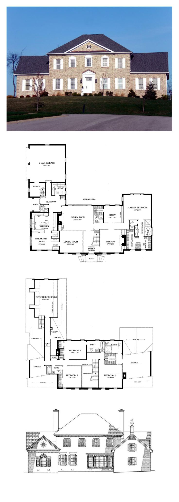 Colonial plantation traditional house plan 86203 house for Plantation floor plans