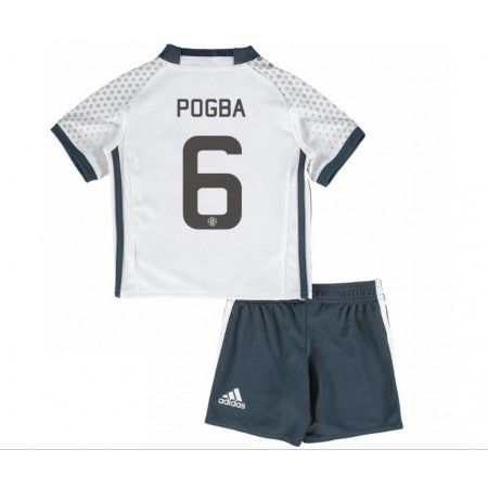 Manchester United Fotbollskläder Barn 16-17 Paul #Pogba 6 TRödjeställ Kortärmad,248,15KR,shirtshopservice@gmail.com