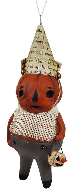 Frowny Face Pumpkin Ornament