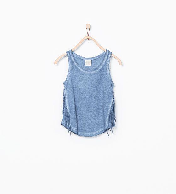 ZARA - KIDS - T-shirt with side fringes