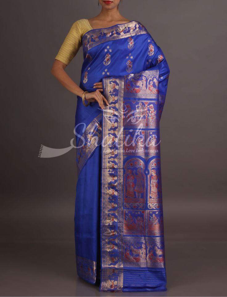 Neera Epic In Silver Thread Electrifying Baluchari Silk Saree