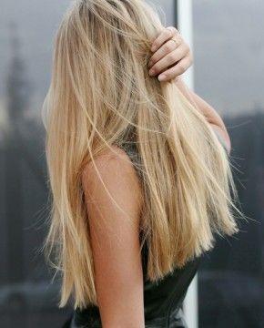 Blunt long hair Spring 2015