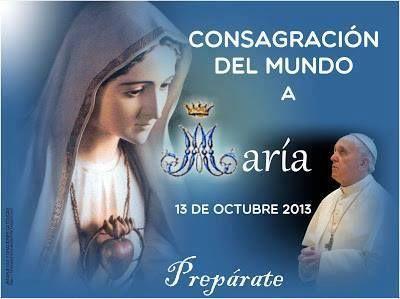 """MI CORAZÓN SERÁ TUYO Quedan pocos días ya, comenzamos el mes en el que el Papa Consagrará al mundo al Inmaculado Corazón de María. ¡Prepárate tú también! Ve abriendo de par en par las puertas de tu corazón para hacerla """"Dueña"""" a la Madre de todas las Gracias. Repite con frecuencia durante el día: """"Todo Tuyo María, quiero ser""""."""