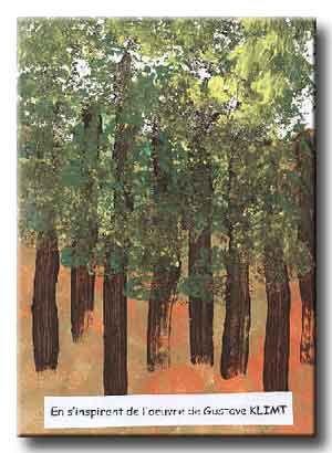 """"""" Boucle d'or"""" la forêt à la manière de Gustave Klimt"""