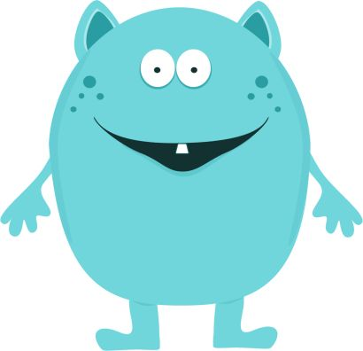 monster clipart for kids | Cute Monster Clip Art Image - cute turquoise monster with one tooth ...