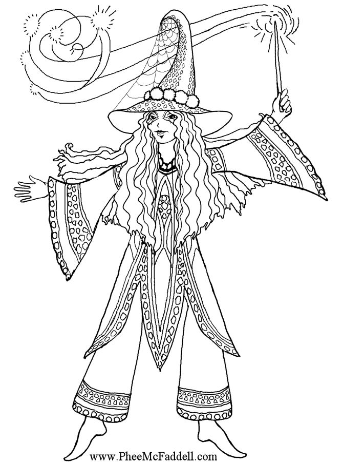 Druella Witch Coloring Page
