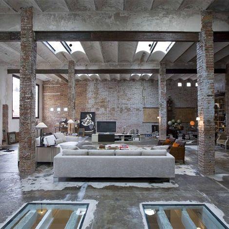 Printing factory loft