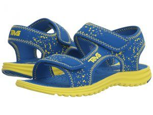 Teva Kids Tidepool (Toddler/Little Kid/Big Kid) (Blue/Lime Splatter) Boys Shoes