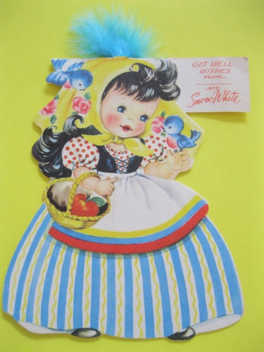 Storyland Dolls Front and Back Snow White Card_American greetings, 1949