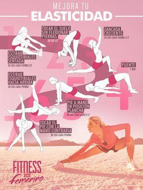 Nueva tabla Fitness en Femenino, en esta ocasión, unos ejercicios para mejorar la flexibilidad, una de las capacidades físicas que más rápido se atrofian si no las practicamos, por su carácter involutivo. Dedica 2 o 3 días a la semana para hacerla, no te llevará mucho tiempo!