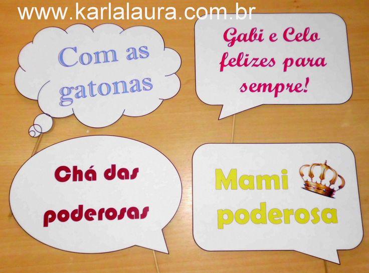 Karla Laura Convites, Lembranças e Papelaria Personalizada: Plaquinhas divertidas - Gabriela Dhein