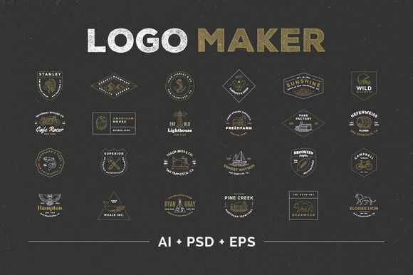 Logo Maker by Victor Barac on @creativemarket - love these!