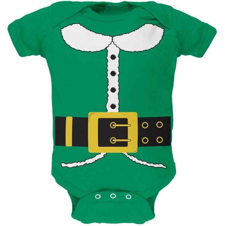 Holiday Elf Costume Baby One Piece