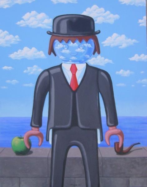Cuadro Playmobil Magritte - Studio Cigale fait des draw my life, dites nous ce que vous en pensez ;) http://studiocigale.fr/films/?catid=1&slg=draw-my-life-amelie-poulain