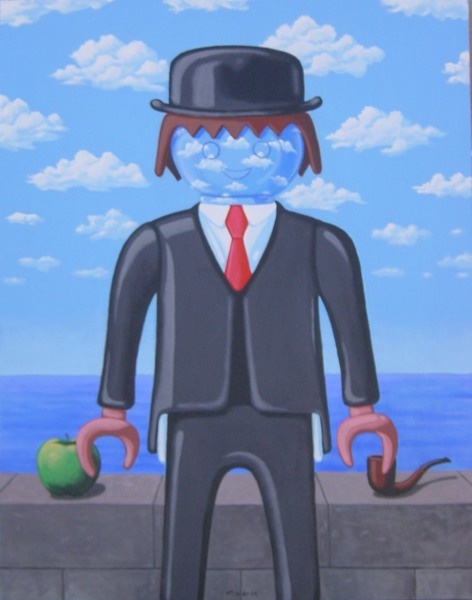 Cuadro Playmobil Magritte