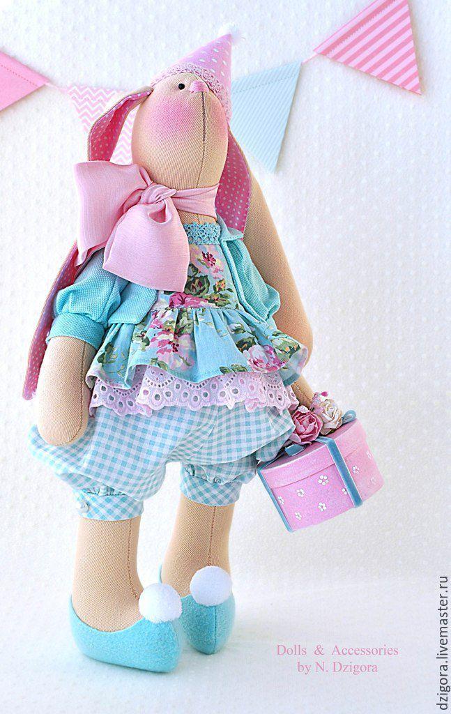 Купить Вивьен зайка текстильная празднично - подарочная - зайка игрушка, игрушка зайка, игрушка зайчик