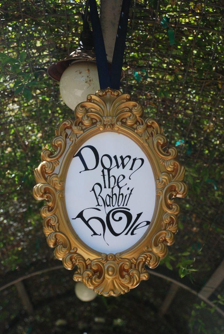 alice in wonderland rabbit hole   Rabbit Hole party entrance sign   ALiCe iN WoNdErLaNd~