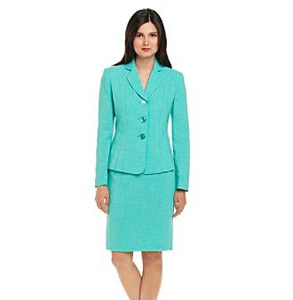 Le Suit® Accordion Pleat Jacket with Skirt at www.carsons.com
