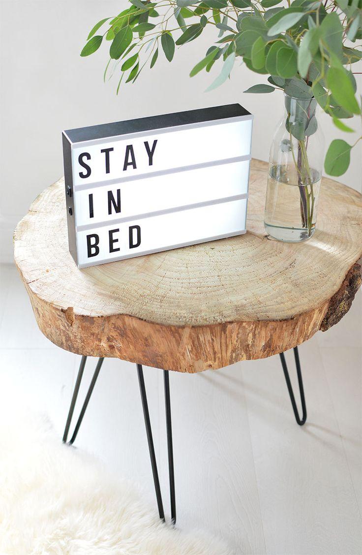Diy Tree Slice Hairpin Table Wood Slice Coffee Table Diy Coffee Table Log Coffee Table