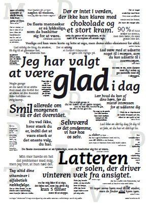 positiv tænkning citater GLAD plakaten er gode udpluk fra bogen Visdomsord, som er fyldt  positiv tænkning citater