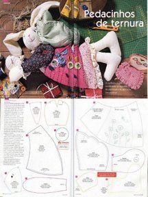 Ateliê Coisinhas da Tita     Carinho na Palma das Mãos...: Moldes...loads of free templates for really cute stuffed animals!!