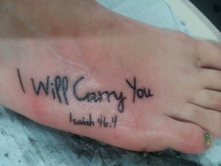 bible verses tattoos on foot - photo #19