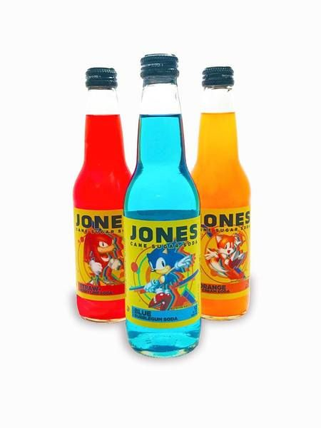 SEGA teams with Jones for limited edition Sonic Mania soda   - partnership between Jones Soda and SEGA - currently a Comic-Con exclusive but could see wider release later - flavors are:  Sonic Blue Bubblegum Tails Orange Cream Knuckles Strawberry Lime  from GoNintendo Video Games