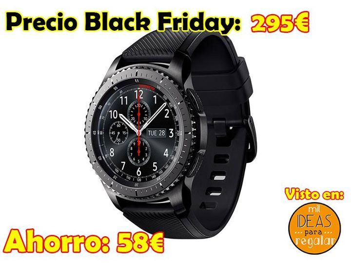 "#BlackFriday Samsung Gear S3 con pantalla 1.3"" Super AMOLED, GPS integrado, batería 380 mAh, altavoz integrado... http://amzn.to/2jTJyVz"