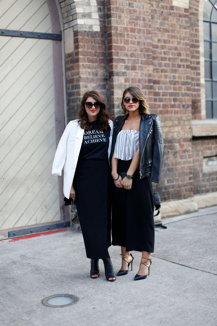 Twice Blessed Bloggers at #MBFWA Shot by Katie Fergus #fashion #streetstyle #bloggers