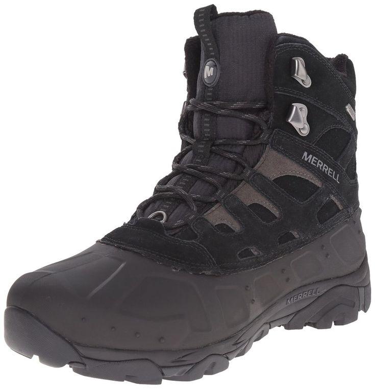 Merrell Men's Moab Polar Waterproof Winter Boot Black size 9.5 NWT #Merrell #mens