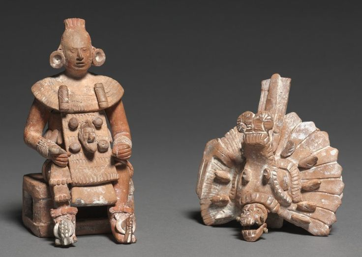 Seated Lord with Removable Headdress, 600-800 Mesoamerica, Maya, probably Jaina Island, Late Classical period, 7th-9th century ceramic and slip,