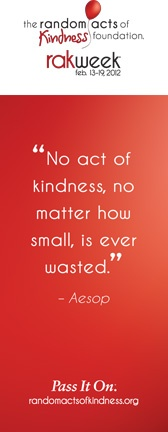 Random Acts of Kindness Week, a challenge worth accepting.