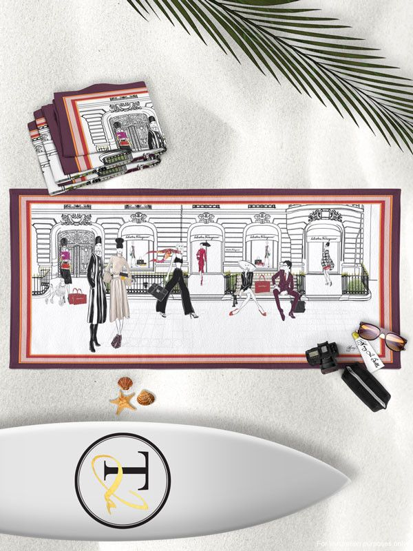 FERRAGAMO, Paris - Beach Towel – Tiffany La Belle