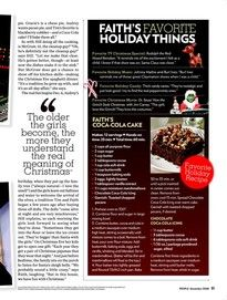 Faith Hill: Christmas Is My Favorite Time - Kids & Family Life, Faith Hill, Tim McGraw : People.com