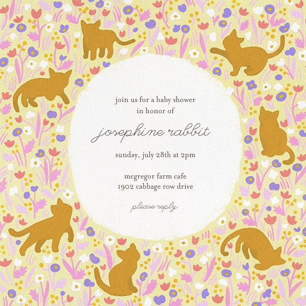 Kittens And Buttercups By Fawnsberg For Paperless Post. Design Custom Baby  Shower Invitations With Easy