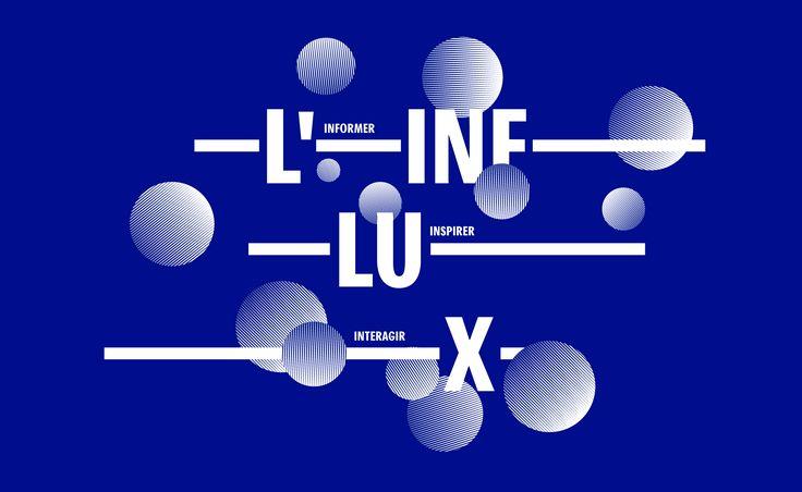 Identité visuelle de L'influx, le webzine culturel des bibliothèques de Lyon. Agitez vos neurones !