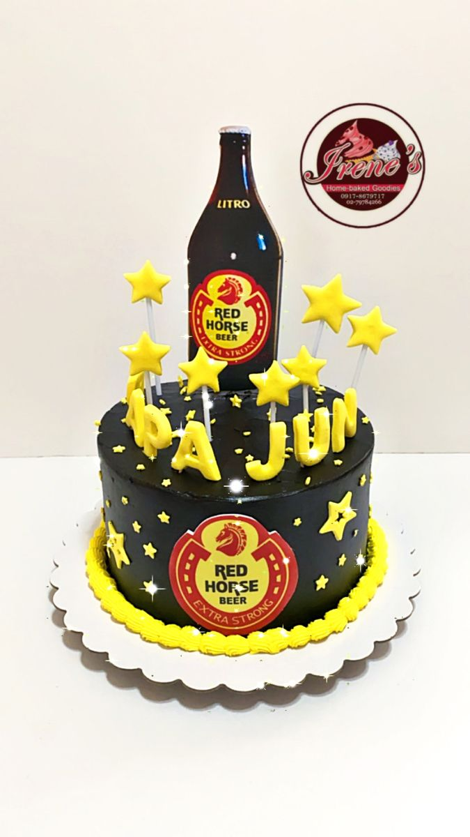 cake with red horse design Pin auf My Cakes