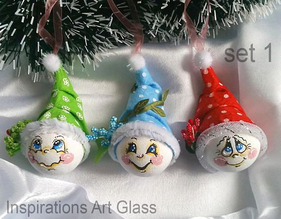 Christmas decorations hand painted Funny christmas ornaments