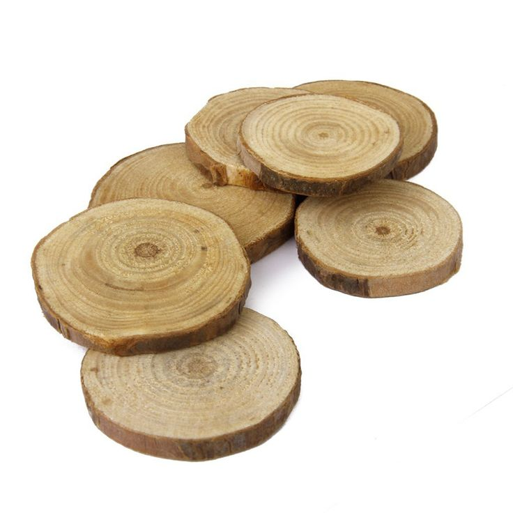 30pcs 3-4CM Wood Log Slices Discs for DIY Crafts Wedding Centerpieces Natural Tree Bark Plaque Decorative Carft *** Be sure to check out this awesome product.