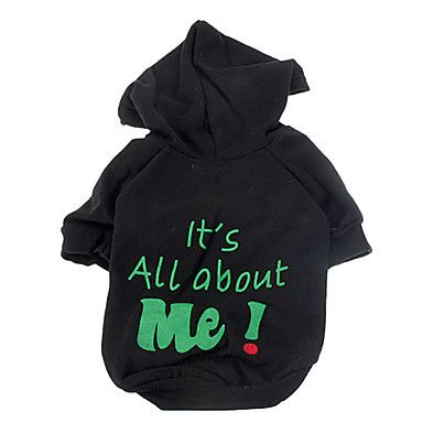 Its All About Me Pattern Warm Hoody Coat for Pets Dogs (Assorted Colors, Sizes) – USD $ 9.99