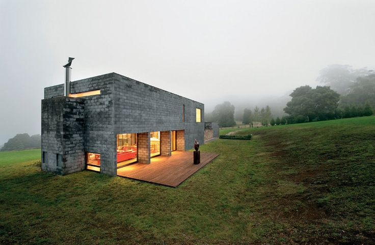 Marble Block Home : A quot mending wall made of concrete block timber and stone