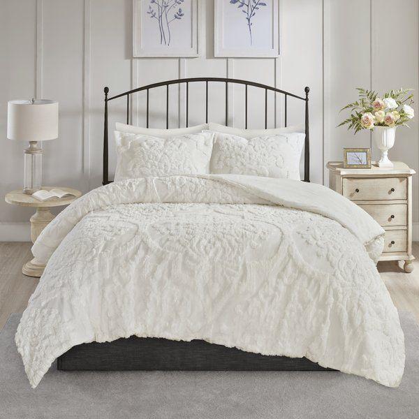 Kennesaw Chenille Comforter Set Damask Duvet Covers Comforter