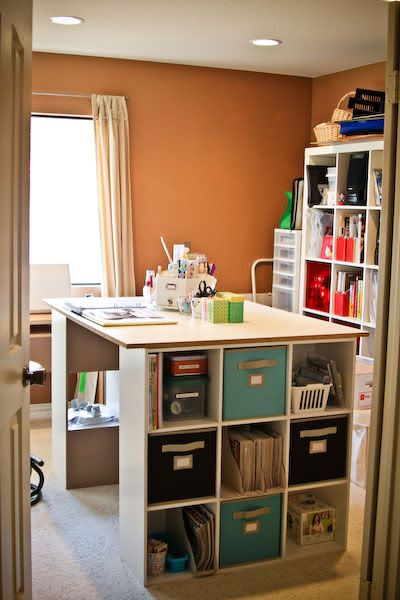 awesome workspace for crafts