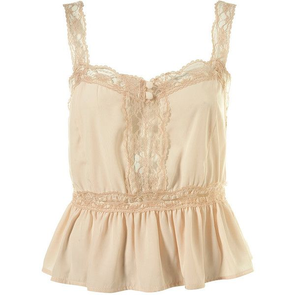 Lace Vintage Button Camisole (€45) ❤ liked on Polyvore featuring tops, shirts, tank tops, tanks, women, polyester shirt, beige shirt, cami tank tops, cami shirt and camisole shirt