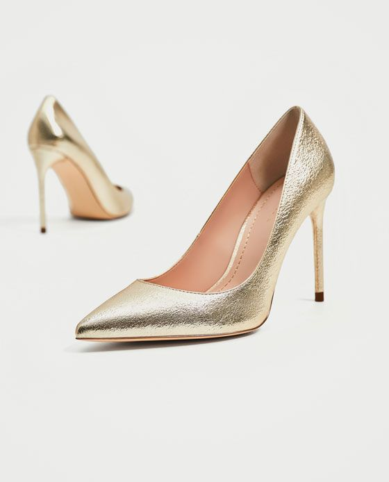 Image 1 of GOLD COLORED COURT SHOES from Zara