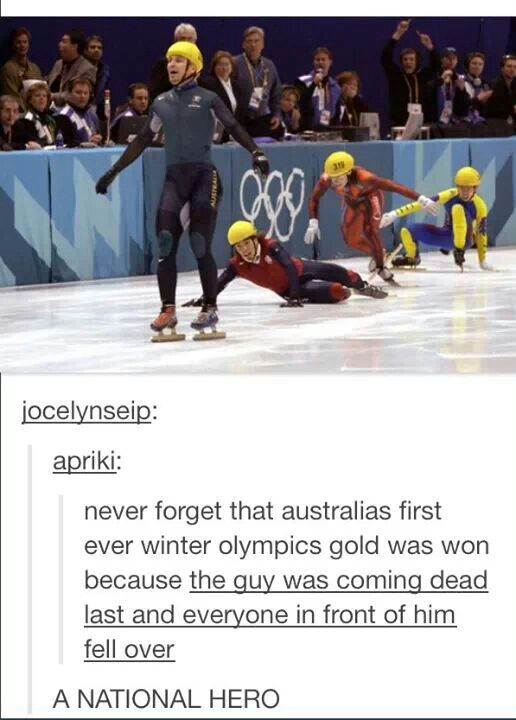 Now his name is even a verb. Well done Steven Bradbury!!