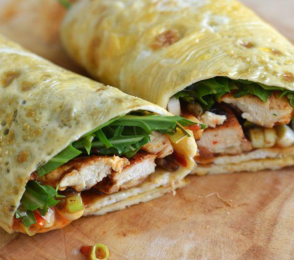 OMF's Studentenkeuken: Omeletwraps met kip - Ohmyfoodness