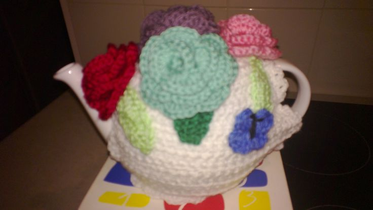 Teapot Cosy I crocheted for my sister Glenda for her birthday this year